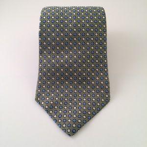 Tommy Hilfiger Sage Green Dot Patterned Men's Tie